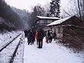 Křivoklát, Křivoklát expres (prosinec 2012), čekající lidé (01).jpg