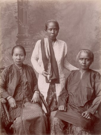 Chinese (East Asian), Malay (Southeast Asian), and Indian (South Asian) women in Singapore, circa 1890. To promote racial harmony among the three races, a unique Racial Harmony Day is celebrated on 21 July every year.