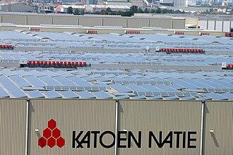 Katoen Natie - Solar panels at Loghidden City, Quay 1998