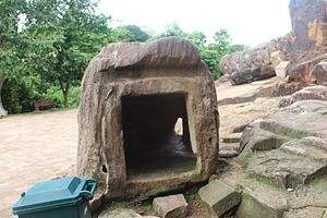 Sallekhana - The chamber for the ascetics to observe Sallekhana at Udayagiri hills, Odisha, India