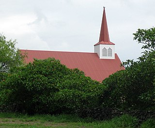 Church building in Honaunau-Napoopoo, United States