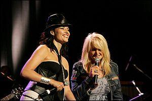 Kareen Antonn - Antonn performing with Bonnie Tyler