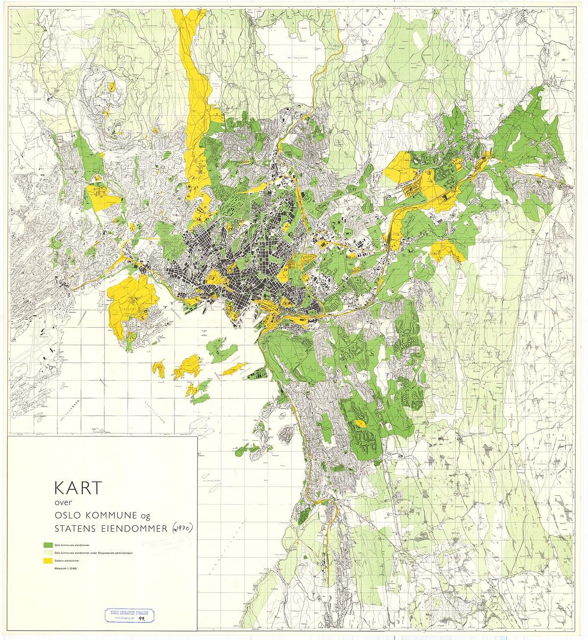 File Kart Over Oslo Kommune Og Statens Eiendommer 99 1960 Jpg