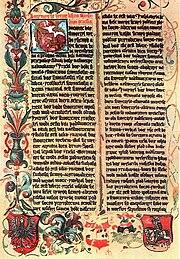 Karta z Biblii Królowej Zofii
