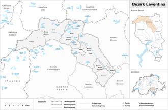 Leventina District - Image: Karte Bezirk Leventina 2016