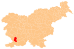 The location of the Municipality of Divača