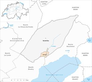 Valangin - Image: Karte Gemeinde Valangin 2013
