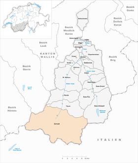 Karte Gemeinde Zermatt 2007