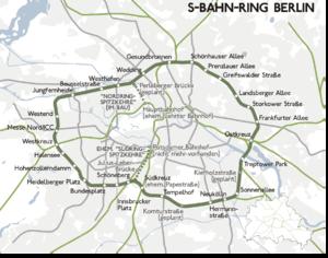 S4X (Berlin) - Image: Karte berlin ringbahn