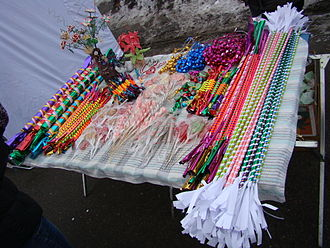 Sugar candy - Colorfully wrapped hard candy is a traditional treat for children sold in Kaziuko mugė, Lithuania