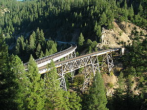 Feather River Route - Keddie Wye as seen in 2003