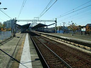 Miurakaigan Station - Image: Keikyu railway kurihama line Miura kaigan station platform