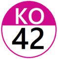 Keio KO42 station number.png
