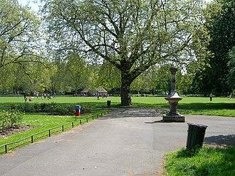 Kennington Park - Tinworth Fountain in Kennington Park