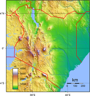 Geography of Kenya - The topography of Kenya.
