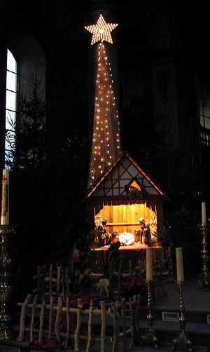 kerststal in de OLV basiliek in 2006 - eigen foto