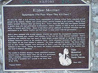 Battle of Killdeer Mountain - Killdeer battle marker, 2003