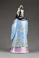 Kinesisk figur bakifrån föreställande Fu xing taoistiska stjärnguden för lycka, från 1800-talet - Hallwylska museet - 95996.tif