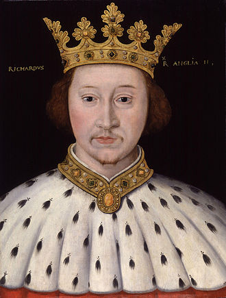 Royal supporters of England - Image: King Richard II from NPG (2)