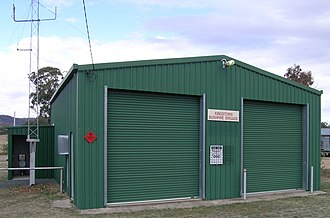 Kingstown, New South Wales - RFS shed and the long awaited toilet, Kingstown