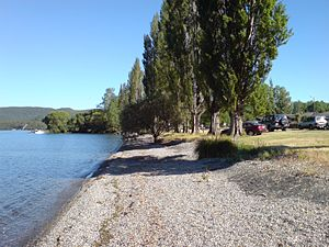 Kinloch, New Zealand - The lakeshore of Lake Taupo at Kinloch