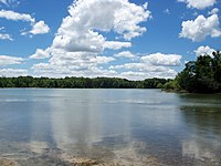 Kirwan Reservoir from boat launch at West Branch State Park.jpg