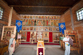 Kizhi Pogost - Inside the Transfiguration Church