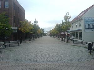 Stjørdal - Pedestrian street in Stjørdal town