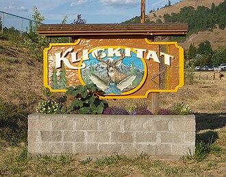 Klickitat, Washington - Sign at the entrance of town
