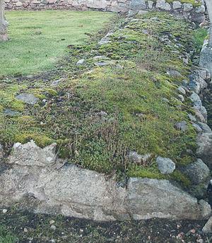 Kincardine O'Neil Hospital, Aberdeenshire - East wall of the ruined hospital in Kincardine O'Neil