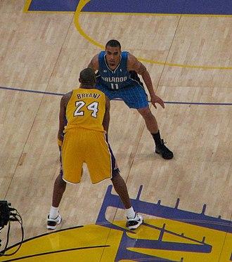 Courtney Lee - Lee defending Kobe Bryant in January 2009