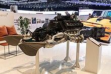 Regera Engine And Exhaust System On Display At Geneva International Motor Show