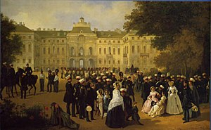 Strelna - Leib Guard reception at the Konstantin Palace. A 19th-century painting.