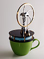 Kontax low temperature difference Stirling Engine on a Coffee cup.jpg