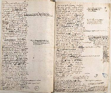 Leibniz's correspondence, papers and notes from 1669 to 1704, National Library of Poland. Korespondencja Gottfrieda Leibniza.jpg