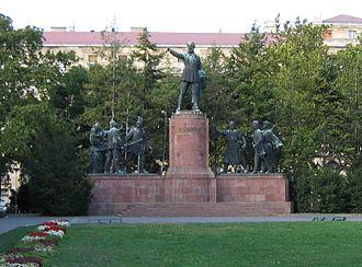 Zsigmond Kisfaludi Strobl - The Kossuth Memorial near the Hungarian Parliament