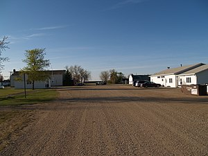 Kramer, North Dakota - Street in Kramer