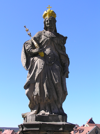 Cunigunde of Luxembourg - Statue of St. Cunigunde as Holy Roman Empress, in Bamberg.