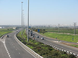 Highway 6 (Israel) - Highway near Horshim Interchange