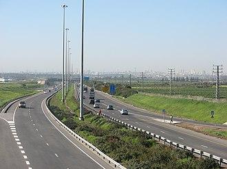 Highway 6 (Israel) - Highway near Horshim Interchange