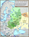 Principalities of Kievan Rus', 1220-1240. These principalities included Vladimir-Suzdal, Smolensk, Chernigov or Ryazan, annexed by the Duchy of Moscow in 1521