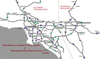 Southern California freeways - Metropolitan Los Angeles Freeway System and Metropolitan Inland Empire