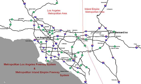 Map Of Southern California Freeway System.Southern California Freeways Wikiwand