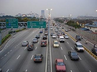 Damansara–Puchong Expressway - Image: LDP Sunway stretch