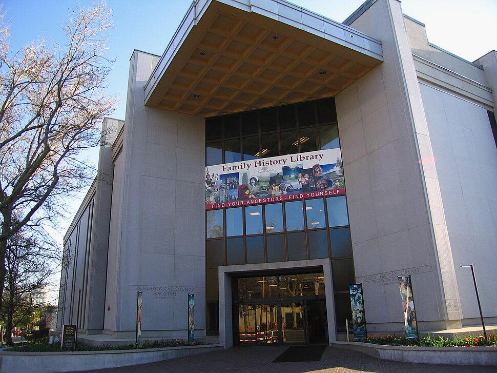 LDS genealogy library slc utah
