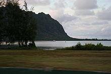 Un tratto dell'isola luogo delle riprese