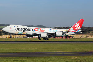 "Cargolux - Cargolux Boeing 747-8F in a special ""cutaway"" livery celebrating the airline's 45th anniversary."
