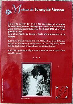 La Châtre Jenny de VASSON (panneau info) 1a