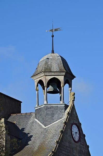 Bell tower of the Maison du canon (16 th century), La Roche-Bernard, Morbihan, France.