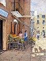 La fruttivendola di Bari vecchia - cm.40x30.jpg